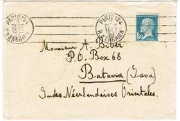 ENVELOPPE D'HOTEL BERGERE PARIS ADRESSEE A BATAVIA JAVA INDES NEERLANDAISES - Marcophilie (Lettres)