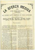 ANNO 1874 - GIORNALE - LA SFERZA MEDICA - DA BOLOGNA PER TOSCANELLA ( VITERBO )  - INTERESSANTE CONTENUTO - 1861-78 Vittorio Emanuele II