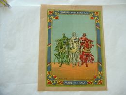 1900 PUBBLICITà TABASSO VOLTERRA COMMERCIO COLONIE INDIA BOMBAY ARALDICA RE GIORGIO ENRICO - Publicité