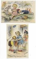 2 CARTES Germaine BOURET Humour IL DORT ... + CELUI-Là ... Humoristique Dessin B D En PARFAIT ETAT Enfants Chien ... - Bouret, Germaine