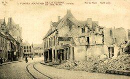 Ruines De FURNES VEURNE - SOUVENIR DE LA GUERRE 1914 1918  Rue Du Nord - Veurne