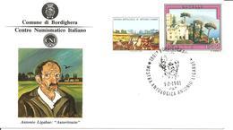 ITALIA - 1981 BORDIGHERA (IM) Mostra Antologica ANTONIO LIGABUE Pittore + Erinnofilo Su Cartolina Speciale - Celebrità