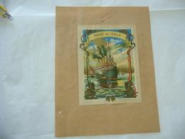 1900 PUBBLICITà TABASSO VOLTERRA COMMERCIO COLONIE INDIA BOMBAY NAVE PORTO - Publicité
