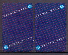 Belgie - Speelkaarten - ** 2 Jokers - Kredietbank ** - Cartes à Jouer Classiques
