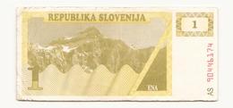 Slovénie Billet De 1 Tolar - Slovenia