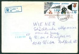 Slovenia 1994 Europa CEPT Vega Puhar Mathematic Logarithm Optics Letter Cover Abroad Michel 80 81 - Slovenia