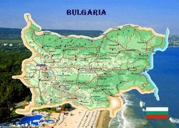 Bulgaria Map New Postcard - Bulgarien