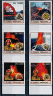 SAO TOME' E  PRINCIPE     VOLCANO  RESEARCH  AND  MINERALS     ANNO  2003      SET X 6 MNH** - Sao Tomé E Principe
