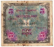Germany 1944 5 Fünf Mark  Allied Occupation WWII As Per Scan - [ 9] Duitse Bezette Gebieden
