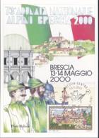 ITALIA REP. - 2000 - POSTE ITALIANE DIVISIONE FILATELIA:BRESCIA 13-14 MAGGIO 2000 73°ADUNATA NAZIONALE ALPINI MILITARI. - 6. 1946-.. Repubblica