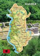 Albania Map New Postcard - Albanie