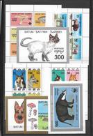 BATOUM - ENSEMBLE De 8 BLOCS ** MNH - THEMES : ANIMAUX / CHATS / CHIENS / CHAMPIGNONS / WWF ... - Autres - Europe
