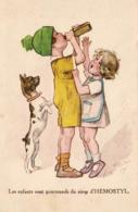 ILLUSTRATEUR Jacques REDON  - CARTE PUBLICITAIRE - LES ENFANTS SONT GOURMANDS DU SIROP D'HEMOSTYL - Publicité