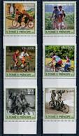SAO TOME' E  PRINCIPE    TRAMSPORTATION  BICYCLES    ANNO  2003      SET X 6 MNH** - Sao Tomé E Principe