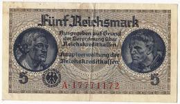 Germany 5 Fünf Reichsmark  As Per Scan - [ 4] 1933-1945 : Tercer Reich