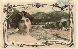 ARAGON Avec Menton En Fond  ......... Photo Reutlinger............décor Art Nouveau - Artistes