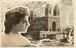 PIRON  Avec Marseille En Fond  ......... Photo Reutlinger  ............décor Art Nouveau - Artistes