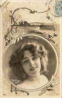 ANNA HELD         ......... Photo Reutlinger  ............décor Art Nouveau - Artistes