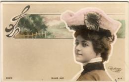 MAUD AMY Avec Son Chapeau        ......... Photo Reutlinger  ............décor Art Nouveau - Artistes