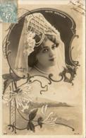 ALICE BONHEUR Avec Son Chapeau De Perles         ......... Photo Reutlinger  ............décor Art Nouveau - Artistes