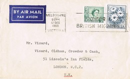 31509. Carta Aerea MELBOURNE (Australia) 1960. British Migrant - 1952-65 Elizabeth II: Ediciones Pre-Decimales