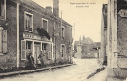 CPA 28 - GOMMERVILLE - Grande Rue Café - France