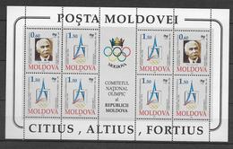 MOLDAVIE - BLOC YVERT N° 6 ** MNH - COTE = 12 EUR. - CIO JEUX OLYMPIQUES - Moldavie