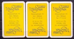 Belgie - Speelkaarten - ** 2 Jokers - Snackbar 't Centerken - St. Niklaas ** - Cartes à Jouer Classiques