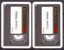 Belgie - Speelkaarten - ** 2 Jokers - JVC - I Love Video ** - Cartes à Jouer Classiques