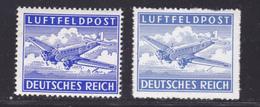 ALLEMAGNE FRANCHISE MILITAIRE N°    1 & 1a ** MNH Neufs Sans Charnière, TB (D8701) Poste Aérienne - 1942 - Luftpost