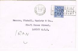 31511. Carta BAILE ATHA CLIATH (Dublin) Eire 1953. Flamme Difteria, Diphtereia, Medicina, Salud - Cartas