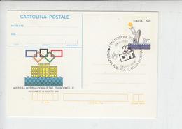 """ITALIA  1988 - Intero Postale  """"fIera Del Francobollo - Riccione - 6. 1946-.. Repubblica"""