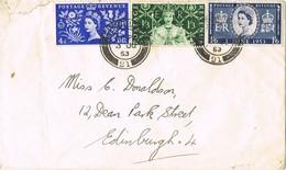 31512. Carta EDINBURGH (Scotland) 1953. Correo Interior Local Post - 1952-.... (Elizabeth II)