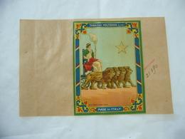 1900 PUBBLICITà TABASSO VOLTERRA COMMERCIO COLONIE INDIA CALCUTTA AEQVITAS LEONI - Publicité