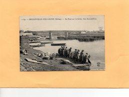 F1503 - BELLEVILLE SUR SAÔNE - 69 - Le Pont Sur La Saône - Les Lavandières - Belleville Sur Saone