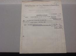 Meisterschwanden Fabrication De Tresses De Paille Hans Fischer 1937 - Suisse