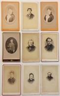 Lot De 9 CDV. Homme. Femme. Garçon. Religieux.  Photographe Léon Ruppé à Vire. - Photos