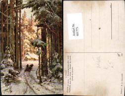 601775,Künstler Ak J. Klewer Heimkehr N. D. Arbeit Holzfäller Holzarbeiter Forstarbei - Berufe
