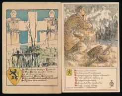 2 LITHOKAARTEN VAN FONS CLAERHOUDT - Guerra 1914-18