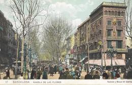 CARTE POSTALE ANCIENNE ORIGINALE : BARCELONA RAMBLA DE LAS FLORES - Barcelona
