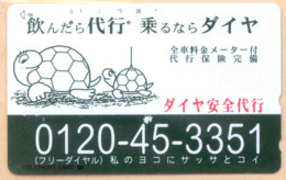Japan Telefonkarte - Schildkröte , Turtle -110-45 - Siehe Scan -4633 - Schildkröten