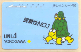 Japan Telefonkarte - Schildkröte , Turtle - 110-27936 Siehe Scan -4639 - Schildkröten