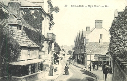 SWANAGE, HIGH STREET ~ AN OLD POSTCARD #86340 - Swanage
