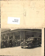 601436,tolle AK Foto-AK Cercu Barnova Bahnhof Auto PKW Oldtimer Hoher Besuch Lasi - Rumänien