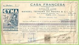 Porto - Factura Da Casa Francesa - Relojoaria - Ourivesaria - Ourives - Portugal