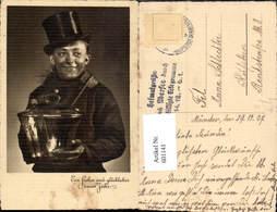 601141,Schornsteinfeger Rauchfangkehrer Neujahr Stempel Heimatgrüße N. Übersee D. Ver - Berufe