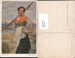 601138,Künstler Ak Josef Süss Fischermädchen Fischerin Fischerei Fischen - Fischerei
