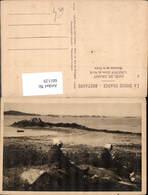 601129,Cote De Granit Loguivy Cotes-du-Nord Bretonnes Sur La Greve Frauen Nähen Netz - Fischerei