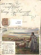 601122,Künstler Ak Hirte Schäfer Schafe Liedtext Notenzeile Schäferlied - Berufe