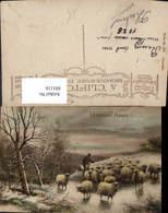 601116,Künstler Ak Hirte Schäfer Schafe Heureuse Annee - Berufe